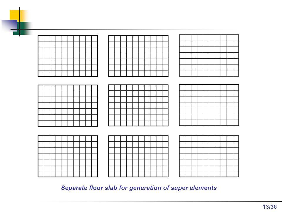 /36 Separate floor slab for generation of super elements 13