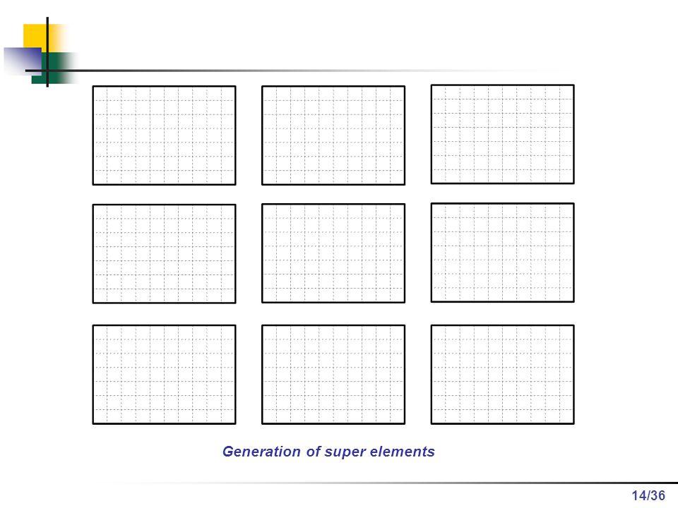 /36 Generation of super elements 14