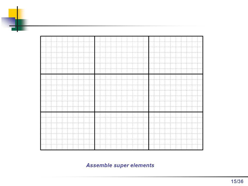 /36 Assemble super elements 15