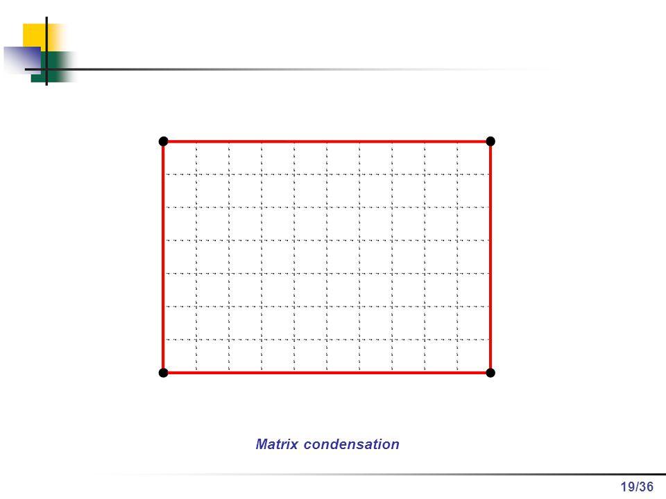 /36 Matrix condensation 19