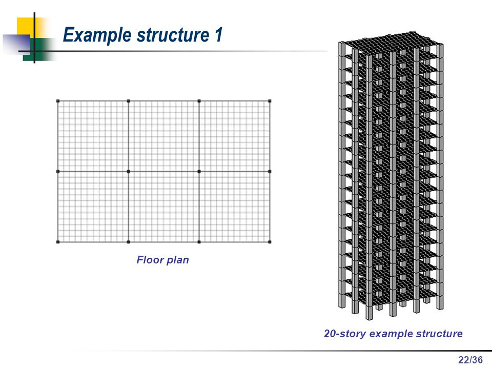 /36 Example structure 1 Floor plan 20-story example structure 22