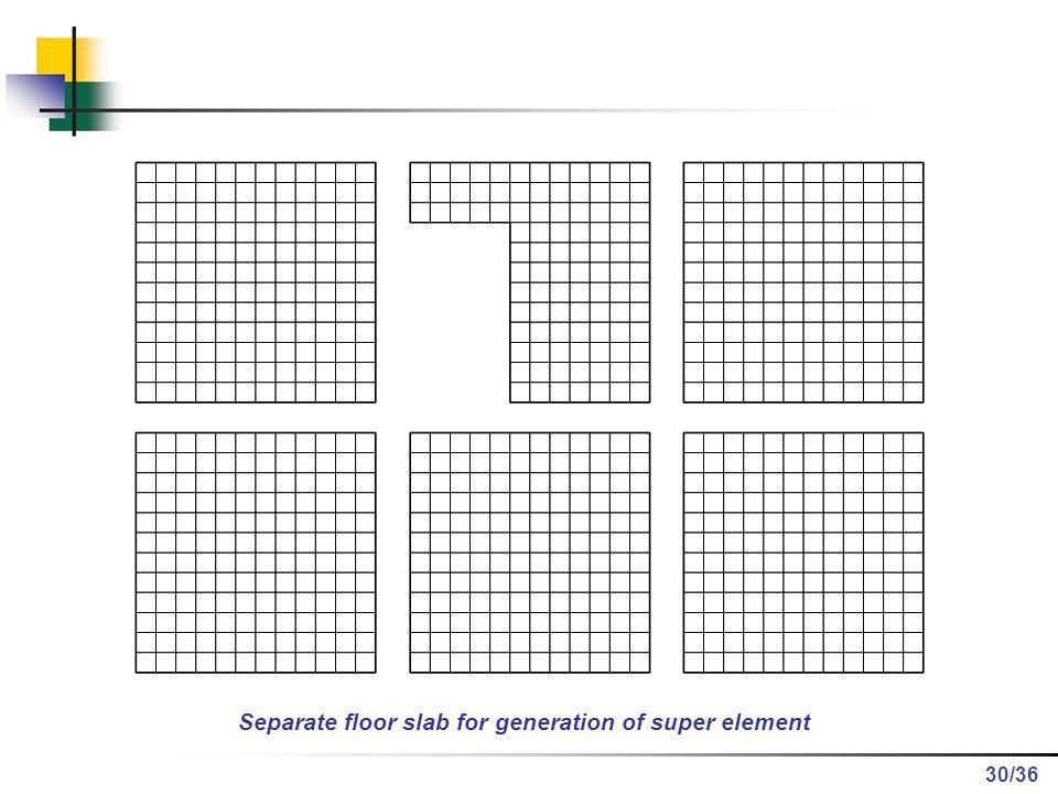 /36 Separate floor slab for generation of super element 30