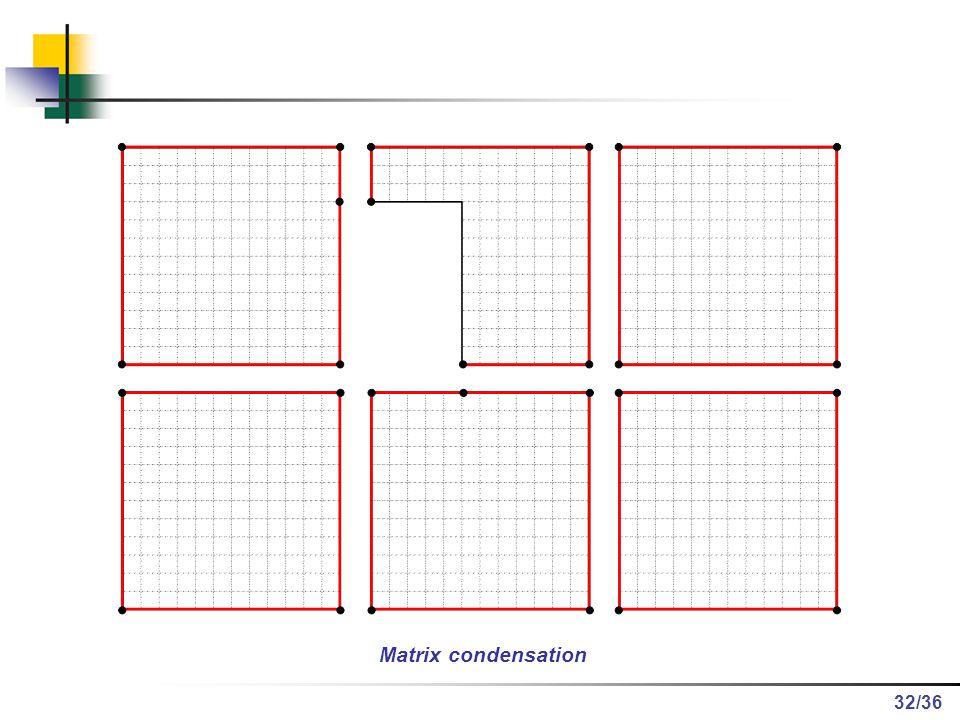 /36 Matrix condensation 32