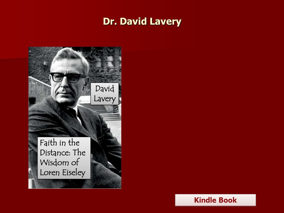 Dr. David Lavery Kindle Book