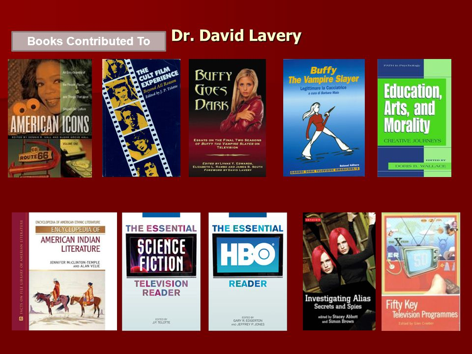 Dr. David Lavery Books Contributed To
