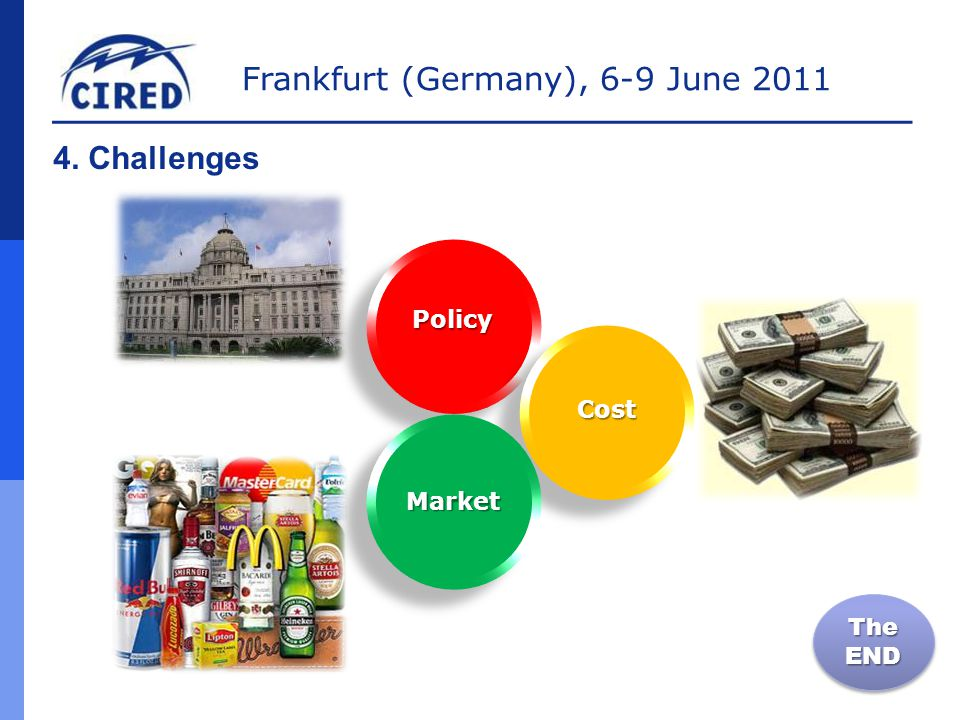 Frankfurt (Germany), 6-9 June 2011 4. Challenges The END Cost Policy Market