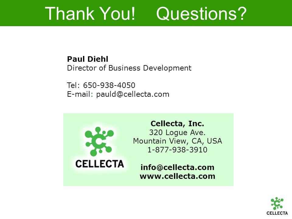 Cellecta, Inc. 320 Logue Ave.