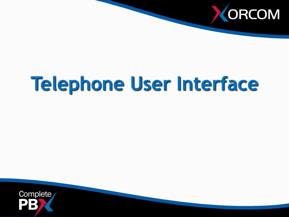 Telephone User Interface