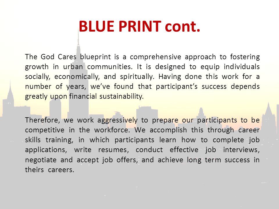 BLUE PRINT cont.