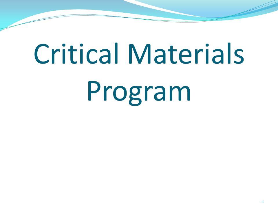 Critical Materials Program 4
