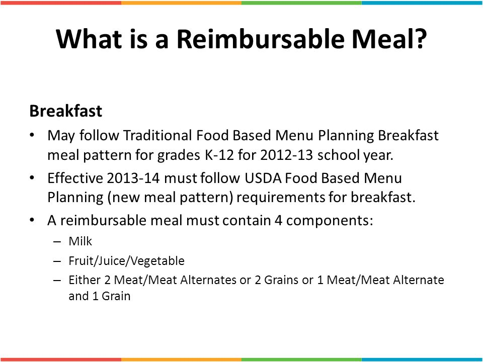 What is a Reimbursable Meal.