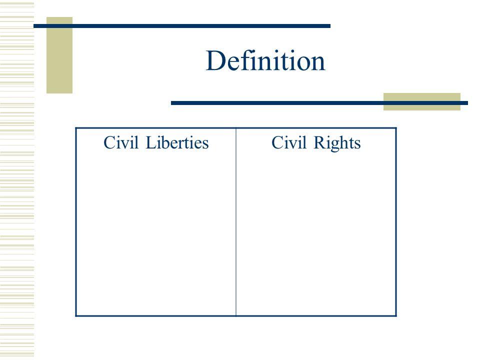 Definition Civil LibertiesCivil Rights