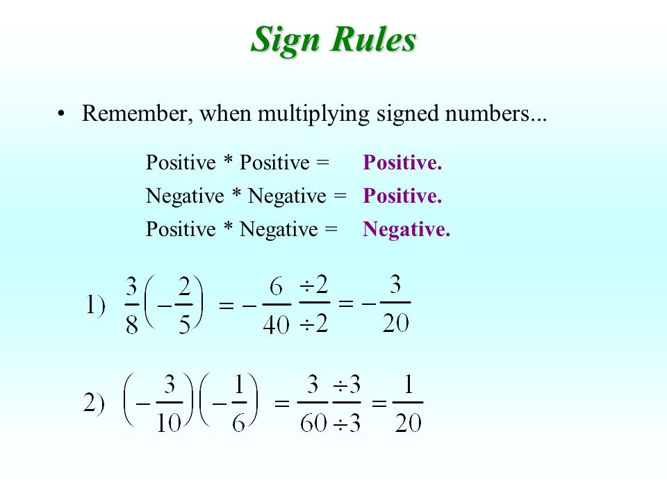Multiply the following fractions and mixed numbers: Try These: Multiply