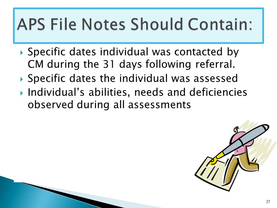  Specific dates individual was contacted by CM during the 31 days following referral.