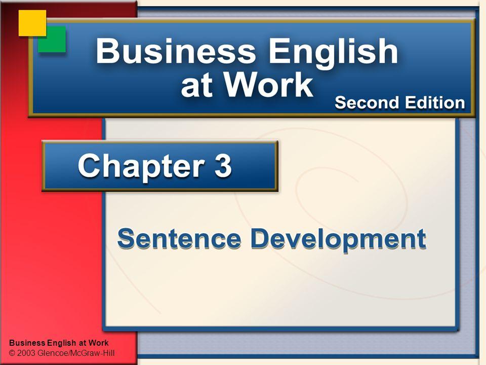 Business English at Work © 2003 Glencoe/McGraw-Hill