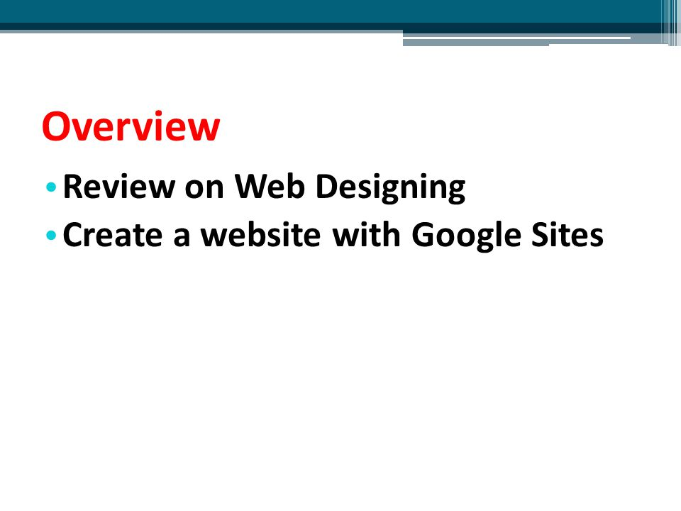 Review on Web Designing 1.Select content for your website 2.Some concepts of web design 3.Select tools for web design 4.Design Techniques 5.Publish your website on UCD's server