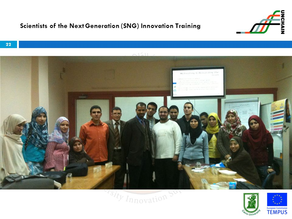 22 Scientists of the Next Generation (SNG) Innovation Training