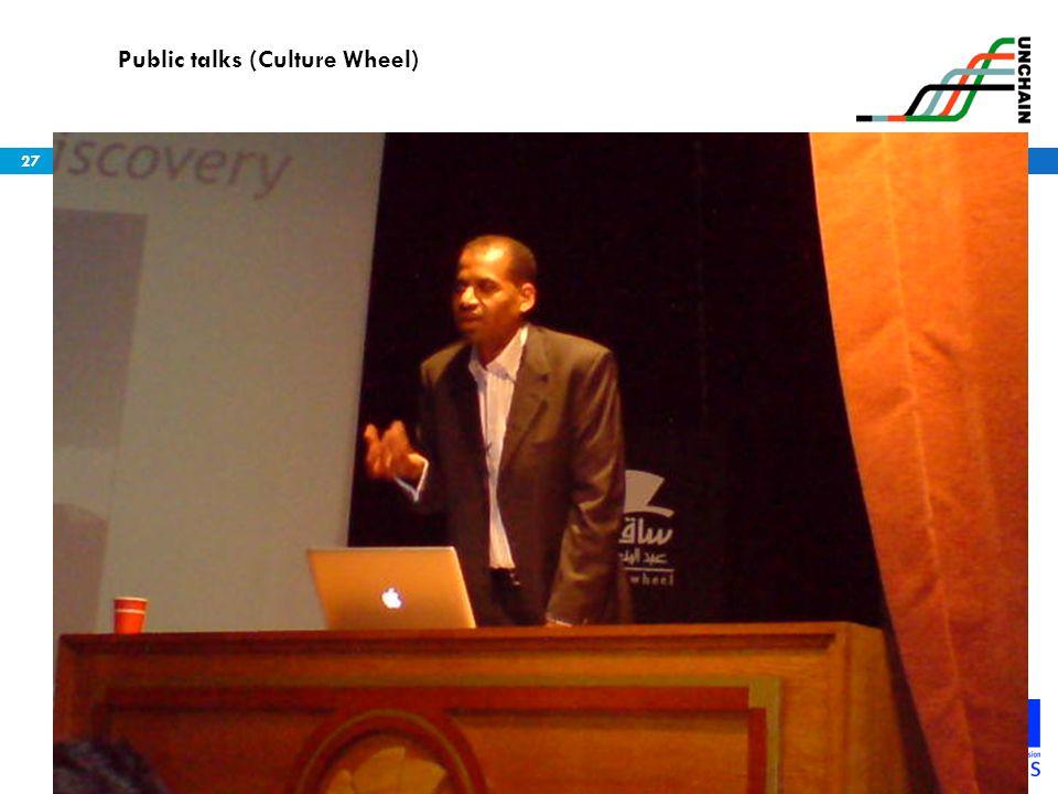27 Public talks (Culture Wheel)