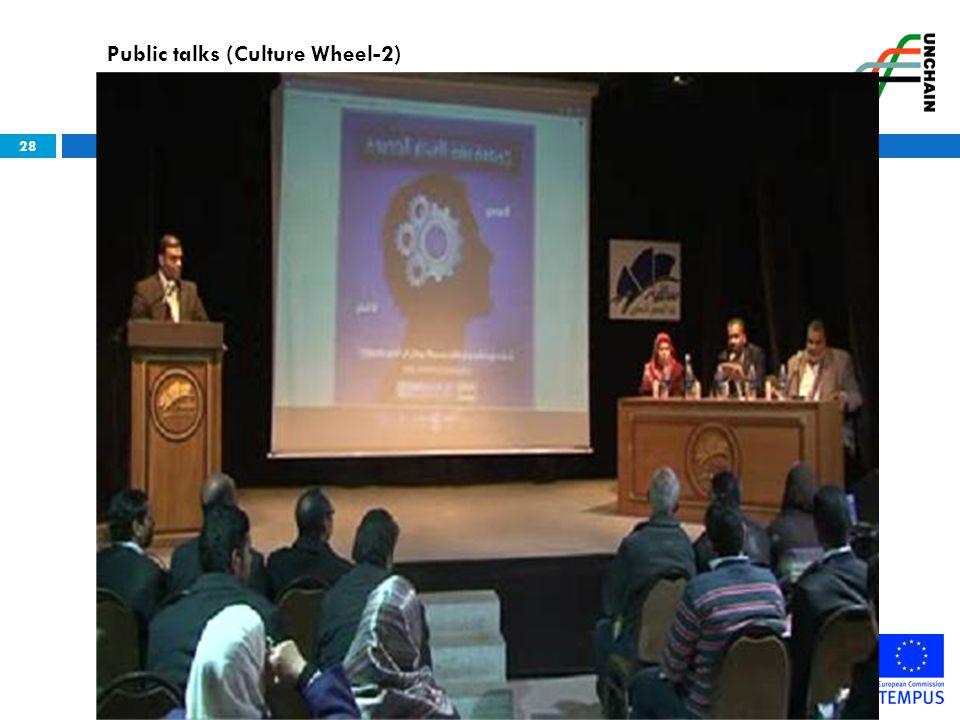 28 Public talks (Culture Wheel-2)