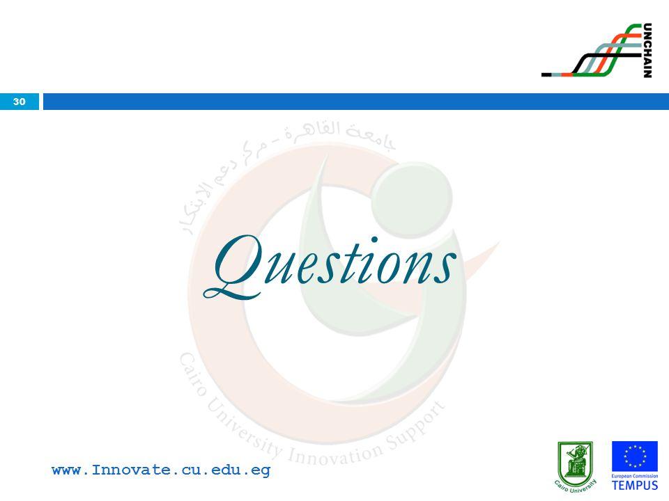 30 Questions www.Innovate.cu.edu.eg