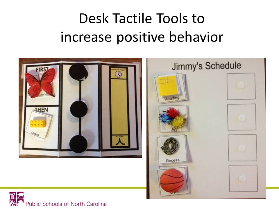 Desk Tactile Tools to increase positive behavior