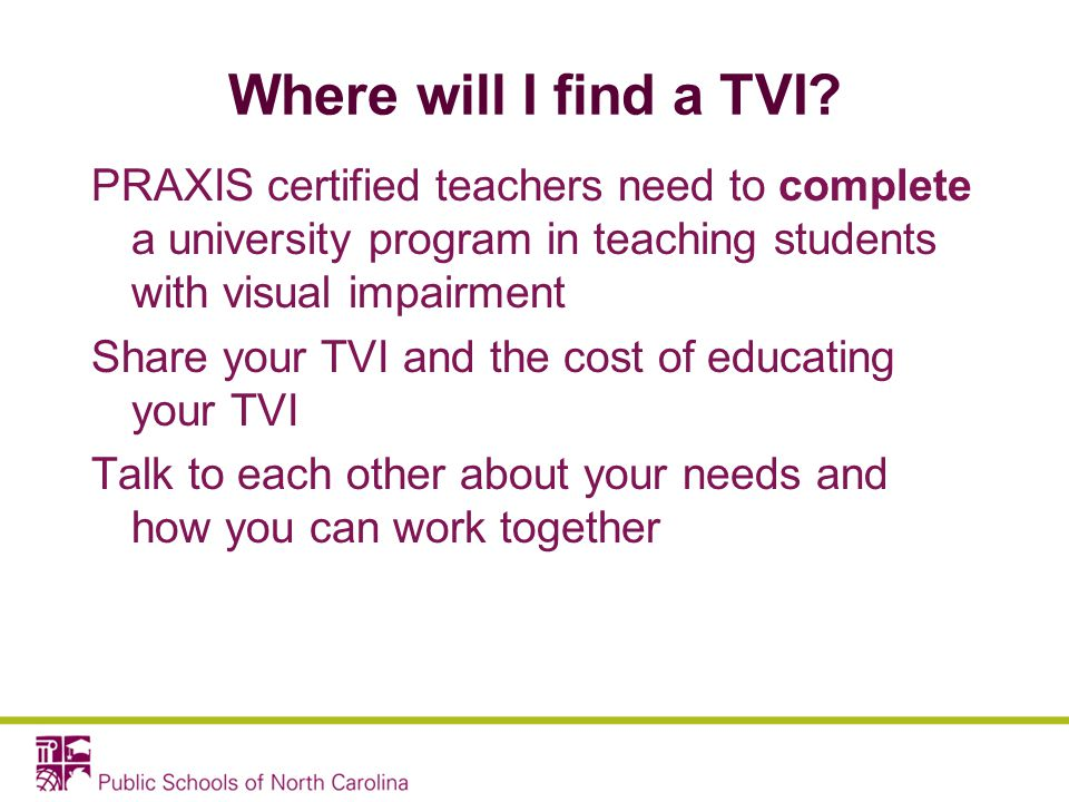 Where will I find a TVI.