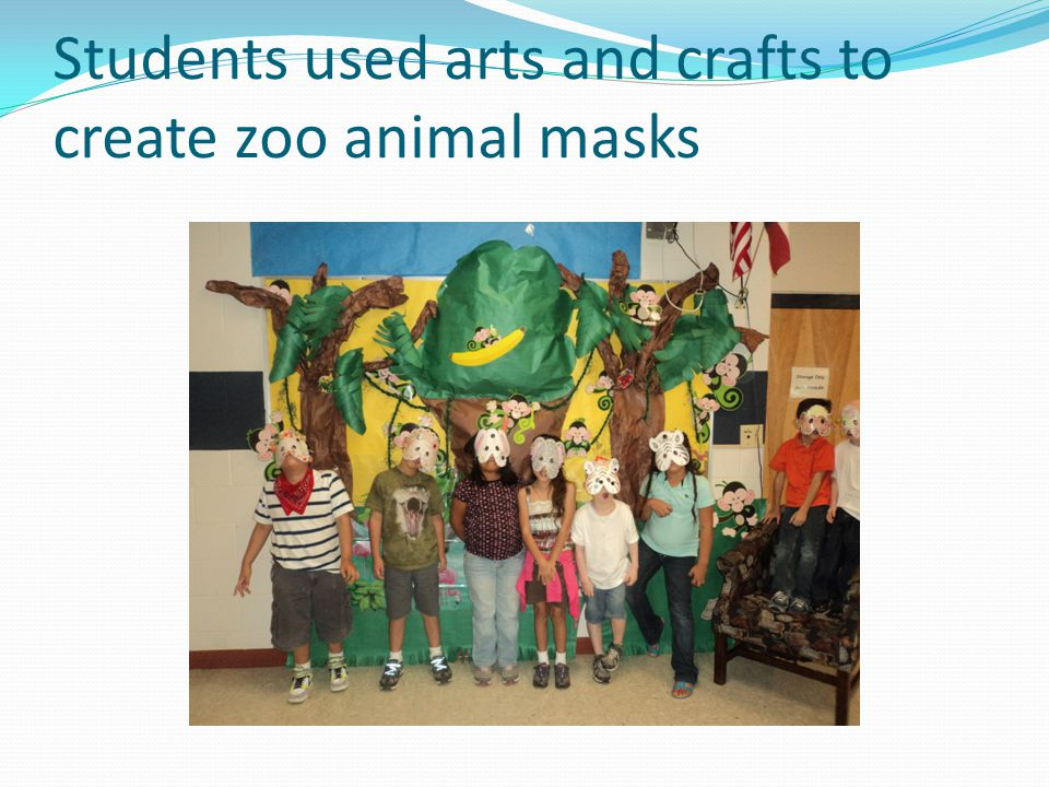 Students used arts and crafts to create zoo animal masks