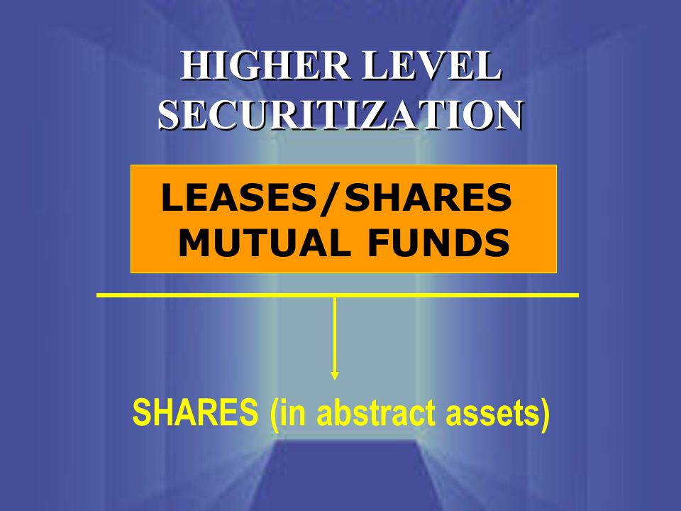 HIGHER LEVEL SECURITIZATION LEASES/SHARES MUTUAL FUNDS SHARES (in abstract assets)