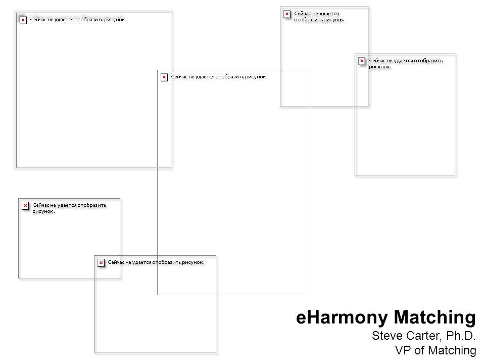 eHarmony Matching Steve Carter, Ph.D. VP of Matching