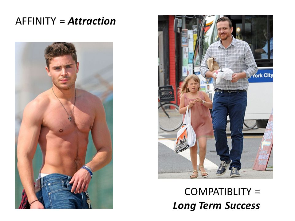 AFFINITY = Attraction COMPATIBLITY = Long Term Success