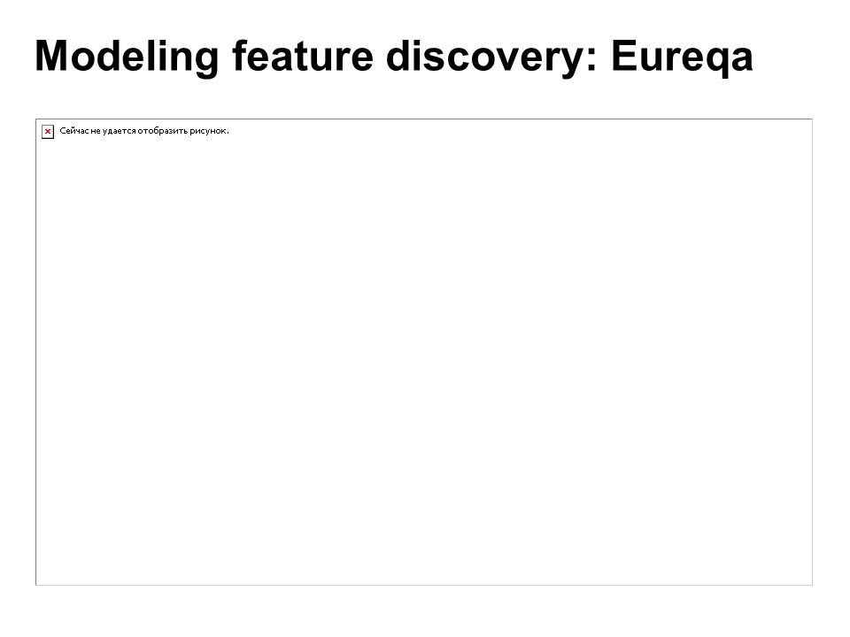 Modeling feature discovery: Eureqa