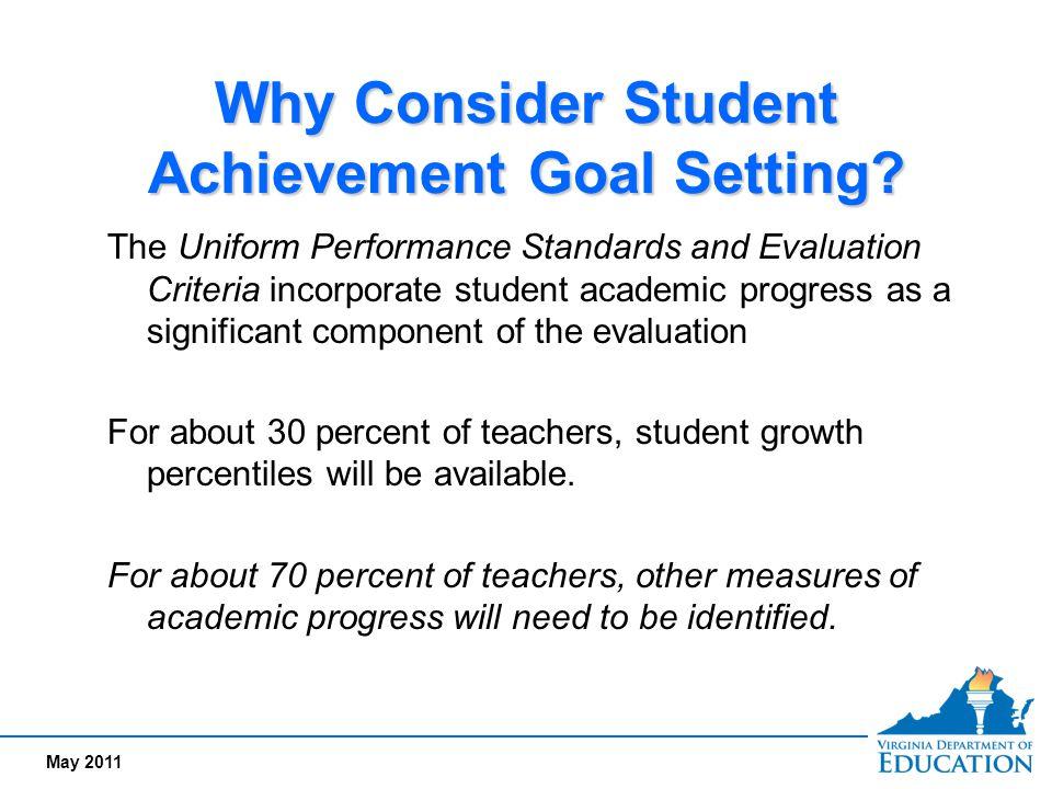 May 2011 Setting student achievement goals…