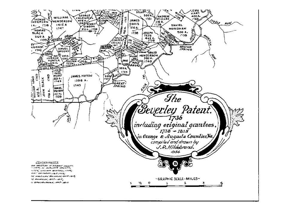 Beverley Patent lands, have George and Robert Breckenridge neighboring to Samuel, David and John Doak.
