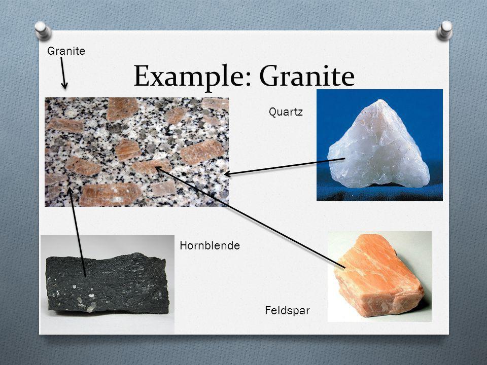 Example: Granite Granite Quartz Feldspar Hornblende