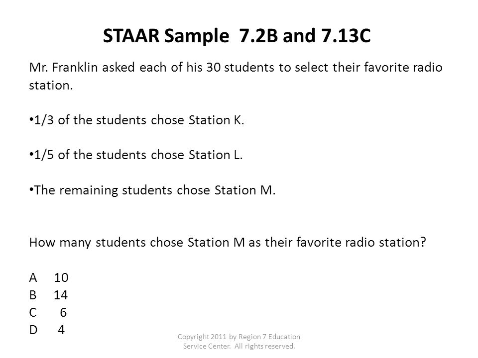 Copyright 2011 by Region 7 Education Service Center. All rights reserved. TAKS 2009