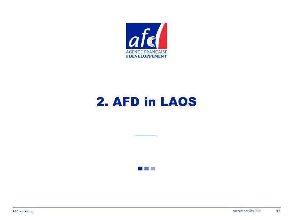 november 4th 2011 AFD workshop 13 2. AFD in LAOS