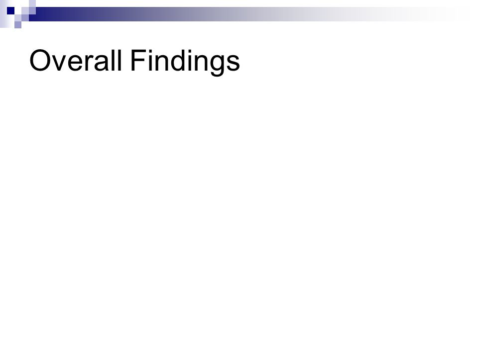 Overall Findings