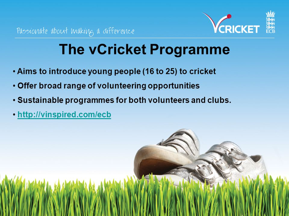 Training in the Non-Cricket-Specific Local Authority Courses (may be free) Evening Classes On-the-job training BT and NatWest – courses and work experience
