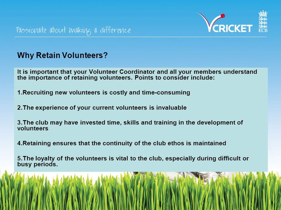 Why Retain Volunteers.