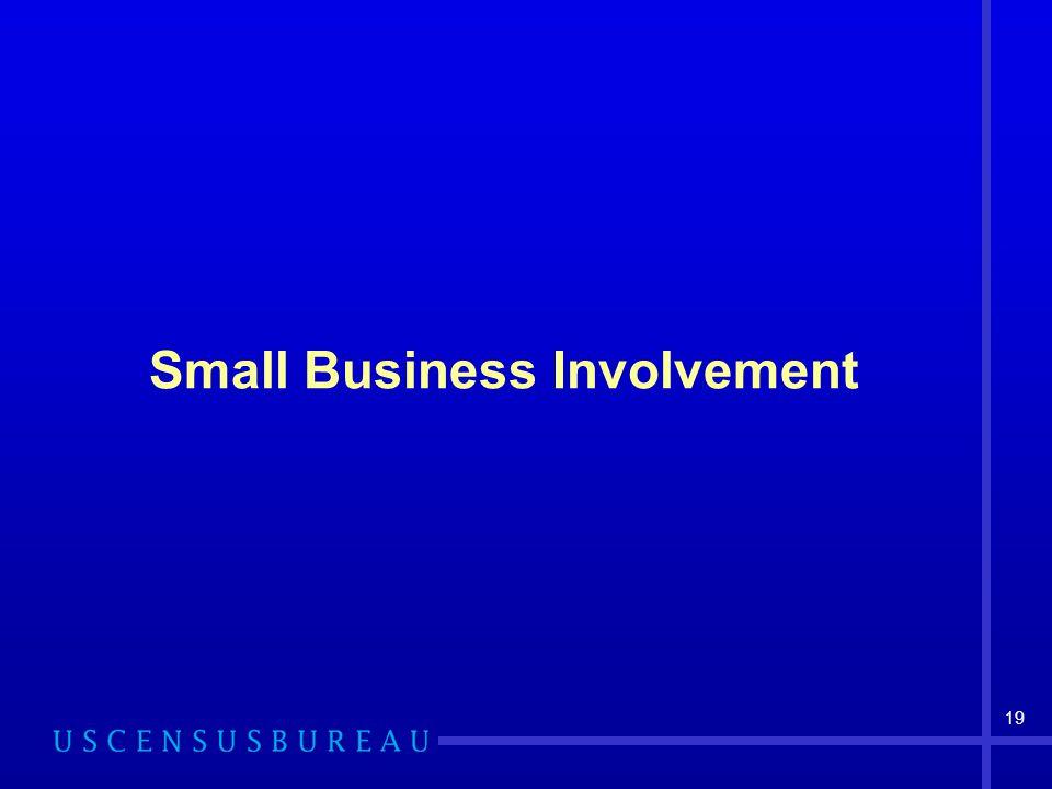 19 Small Business Involvement