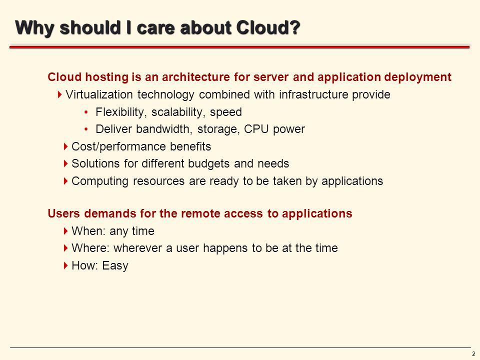 2 Why should I care about Cloud.
