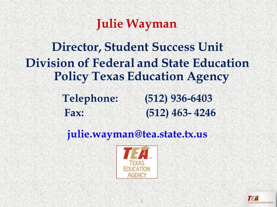 Vickie Ansley Coordinator, Title I/SCE Region 16 Education Service Center Telephone:(806) 677-5134 Fax: (806) 677-5001 vickie.ansley@esc16.net ~ Amarillo 4