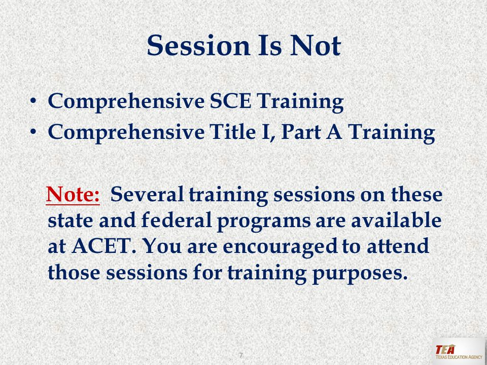 SCE Frequently Asked Questions http://www.tea.state.tx.us/index4.aspx?id=4082 28