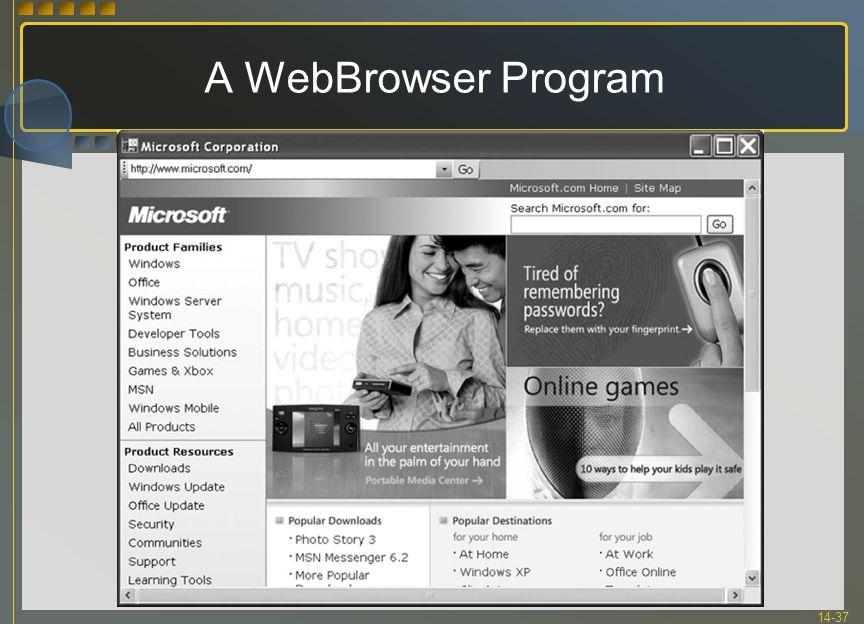 14-37 A WebBrowser Program