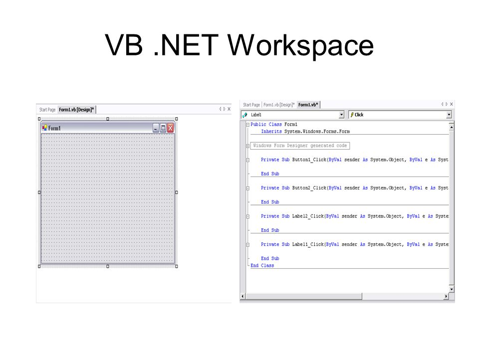 VB.NET Workspace