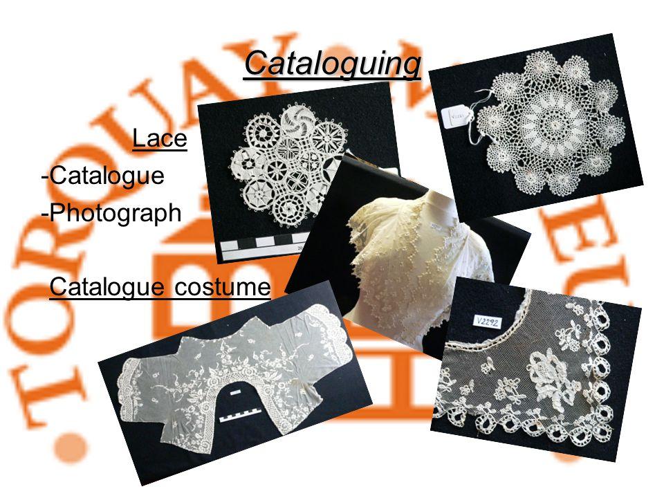 Cataloguing Lace -Catalogue -Photograph Catalogue costume