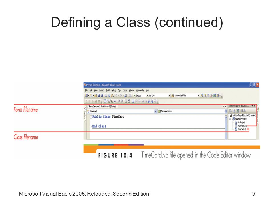 Microsoft Visual Basic 2005: Reloaded, Second Edition9 Defining a Class (continued)