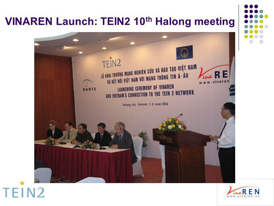 VINAREN Launch: TEIN2 10 th Halong meeting