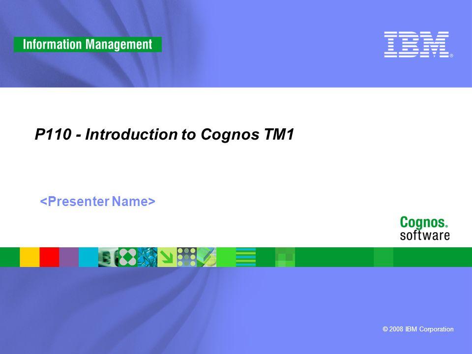 TM1 Representative Solutions Analytical + Transactional Views