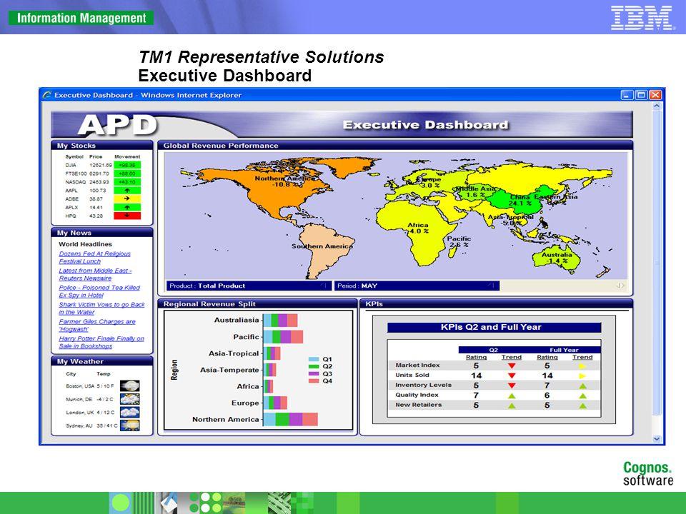 TM1 Representative Solutions Analyst Dashboard